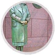 Eleanor Roosevelt -- 1 Round Beach Towel by Cora Wandel