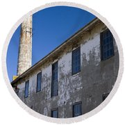 Electrical Repair Shop Alcatraz Island Round Beach Towel