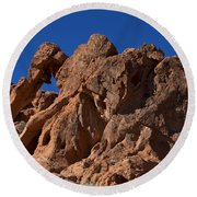 Elephant Rock Valley Of Fire State Park Nevada Round Beach Towel