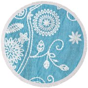 Embroidery Round Beach Towel