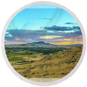 Emmett Valley Round Beach Towel