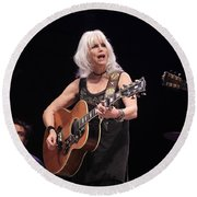 Emmylou Harris Round Beach Towel