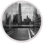 Empty Sky Memorial And The Freedom Tower Round Beach Towel