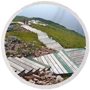 End Of Skyline Trail In Cape Breton Highlands Np-ns Round Beach Towel