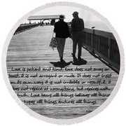 Endless Love  Round Beach Towel