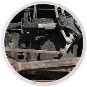 Engine 491 In The Colorado Railroad Museum Round Beach Towel