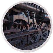 Engine 5629 In The Colorado Railroad Museum Round Beach Towel