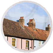English Cottages Round Beach Towel
