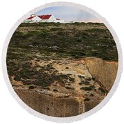 Espichel Cape Lighthouse Round Beach Towel