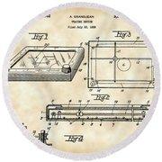 Etch A Sketch Patent 1959 - Vintage Round Beach Towel