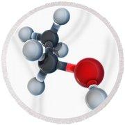 Ethanol Molecular Model Round Beach Towel