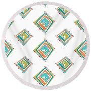 Ethnic Window Round Beach Towel by Susan Claire