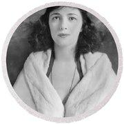 Evelyn Nesbit Round Beach Towel