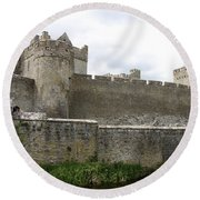 Exterior Of Cahir Castle Round Beach Towel