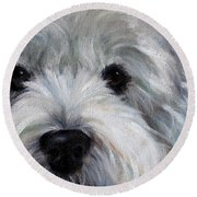 Eyes For You Round Beach Towel