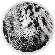 Eyjafjallajokull Glacier And Ashes  Round Beach Towel