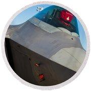 F-22 Raptor Jet Round Beach Towel