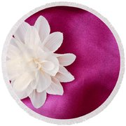 Fabric Flower Round Beach Towel