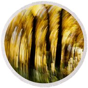Fall Abstract Round Beach Towel