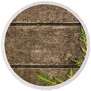 Fall Background Round Beach Towel