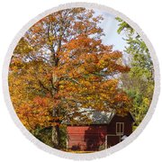 Fall View Round Beach Towel