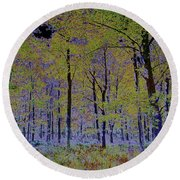 Fantasy Forest Art Round Beach Towel