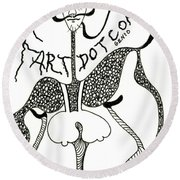 Fart Round Beach Towel
