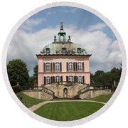 Fasanen Schloesschen - Germany    Pheasant Palace  Round Beach Towel