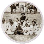 Father Damien (1840-1889) Round Beach Towel