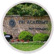Fbi Academy Quantico Round Beach Towel