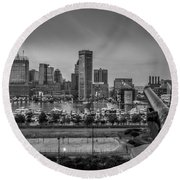 Federal Hill In Baltimore Maryland Round Beach Towel