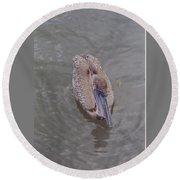 Female Pelican Round Beach Towel