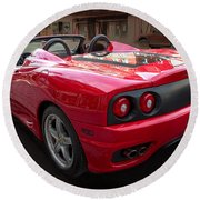 Ferrari 360 Spider Round Beach Towel