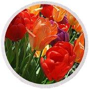Festival Of Tulips Round Beach Towel