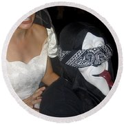 Film Homage Bela Lugosi Ed Wood Bride Of The Monster 1955 Halloween Party Casa Grande Arizona 2005 Round Beach Towel