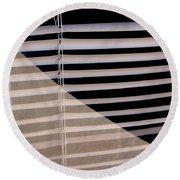 Film Noir Double Indemnity 2 1944 Broken Glass Window Venetian Blinds Casa Grande Arizona 2004 Round Beach Towel