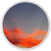 Film Noir Homage Slightly Scarlett John Alton Rko 1956 Reddish Clouds Dusk Casa Grande 2005 Round Beach Towel