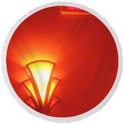 Film Noir Raymond Burr Robert Aldrich Red Light 1949 Art Deco Light Fox Tucson Theater 2006 Round Beach Towel
