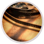 Film Reel Round Beach Towel