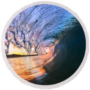 Fire And Ice Round Beach Towel