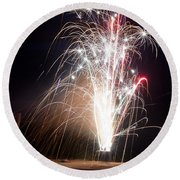 Fireworks 9 Round Beach Towel