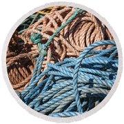 Fishing Ropes Round Beach Towel