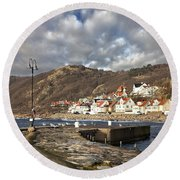 Fishing Village Of Molle In Sweden Round Beach Towel