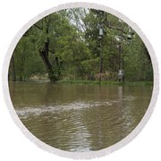 Flooded Park Round Beach Towel