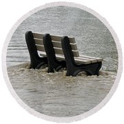 Flooded Seat  Round Beach Towel