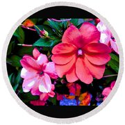 Floral Beauty Round Beach Towel
