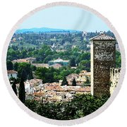 Florence Landscape Round Beach Towel