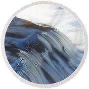 Flowing Waters Round Beach Towel