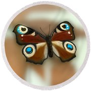 Fly Butterfly Round Beach Towel