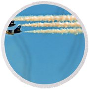 Fly By  Round Beach Towel